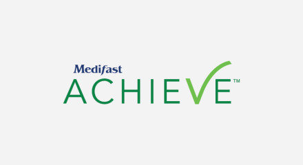LOGO: Lock-up for the new Medifast Achieve Plan.