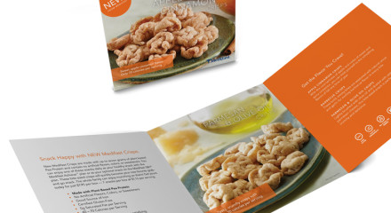INSERT: Tri-fold insert for new snack product.
