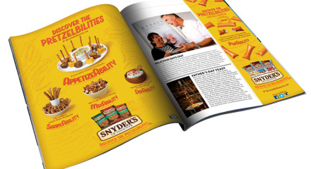 MAGAZINE AD: Campaign showing all the possibilities of Snyder's pretzels.